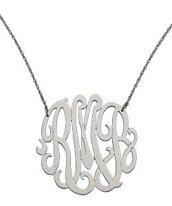 West Avenue Jewelry Large Monogram Necklace - Max and Chloe