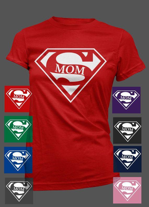 Super Mom Women TShirt Mother's Day Birthday by MyTeeShirtRocks, $14.99