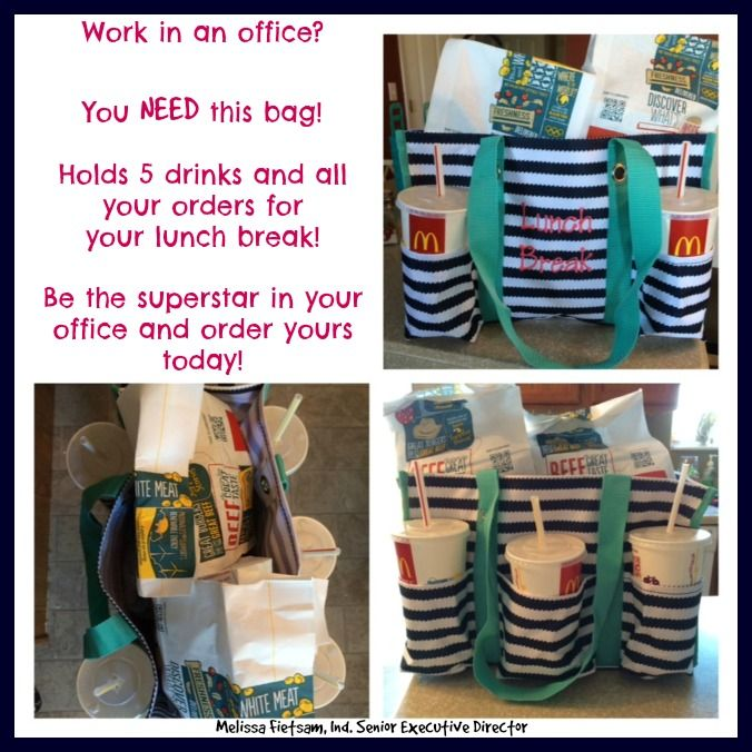 organizing utility tote to carry your offices orders for lunch! Everyone needs one!!  www.thetotegirl.com