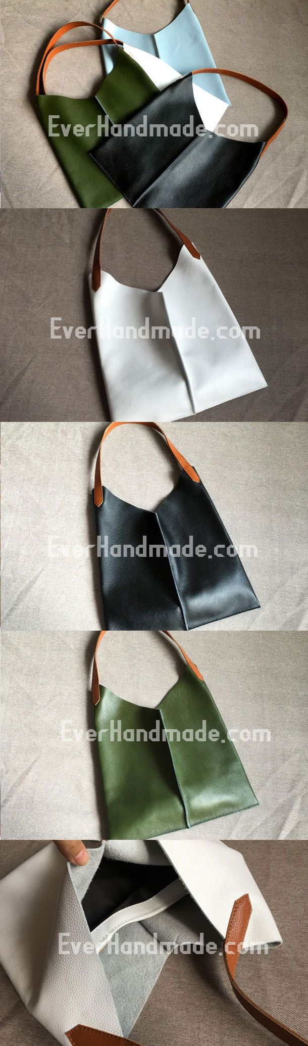 Genuine Leather Bag Handmade Vintage Leather Tote Bag