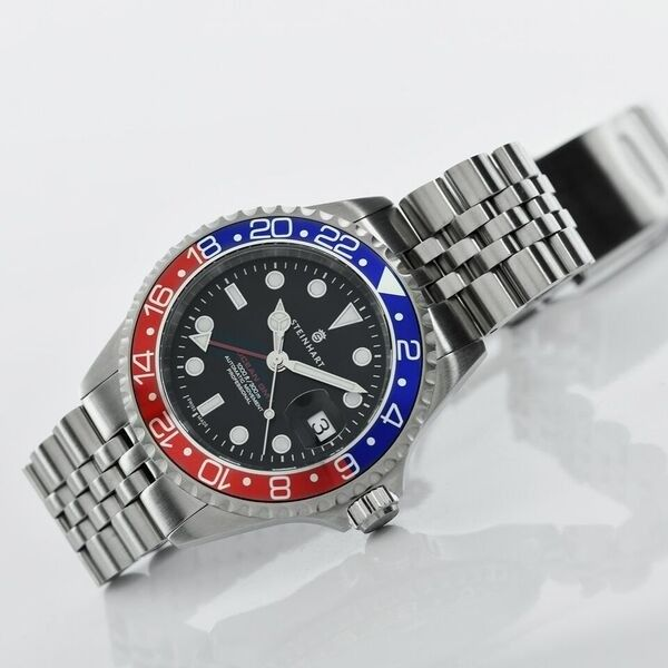 Steinhart Ocean One Gmt Jubilee Steinhart Watch Stainless Steel Bracelet Swiss Made Watches