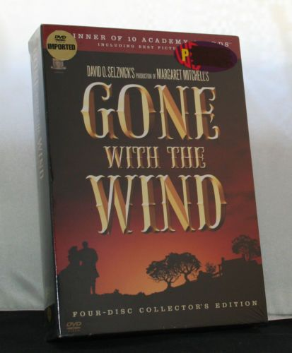GONE-WITH-THE-WIND-4-Disc-DVD-Collectors-Edition-NEW-Region-3