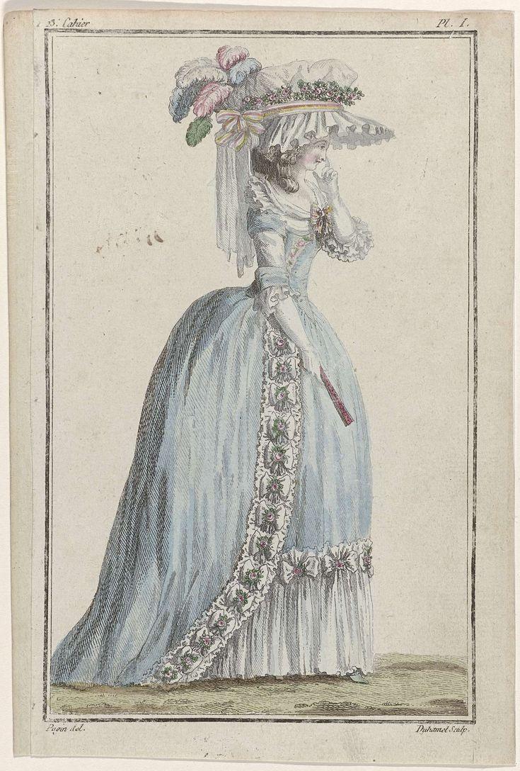 Cabinet des Modes ou les Modes Nouvelles, 15 mai 1786, Pl. I, A.B. Duhamel, Buisson, 1786