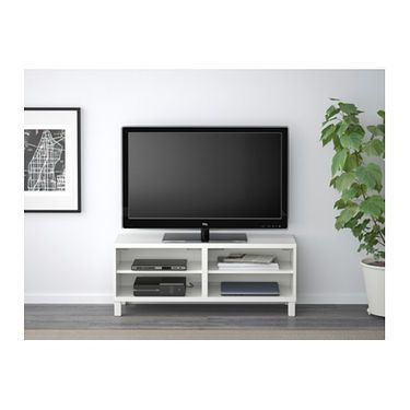 IKEA BESTÅ TV bench The cable outlet at the back makes it easy to gather and organise all wires.