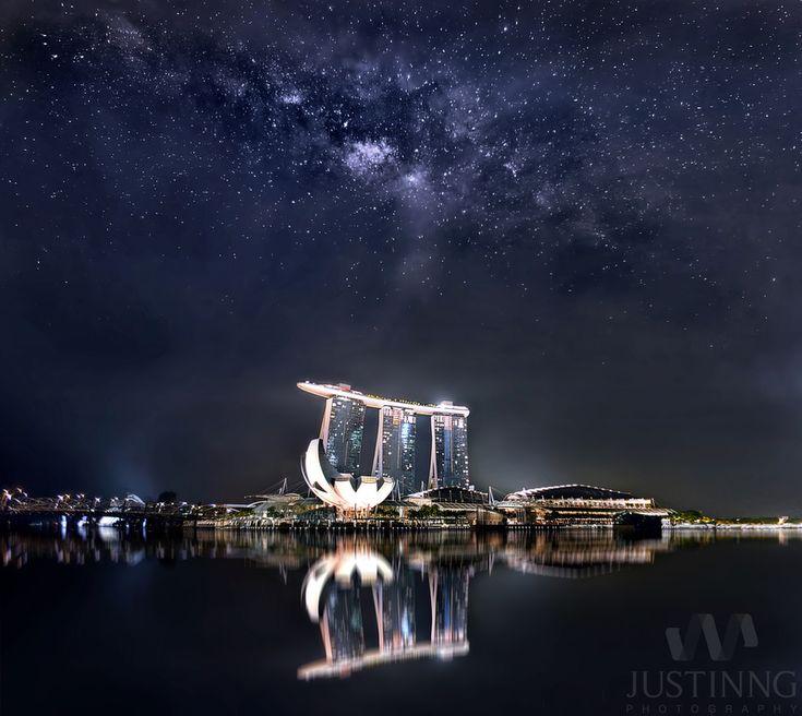 Rising Milky Way At Marina Bay Sands Singapore Justin Ng Photo If Singapore S Skies Had