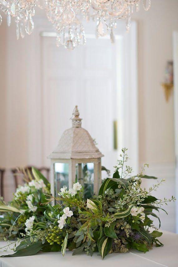spring wreath as centerpiece