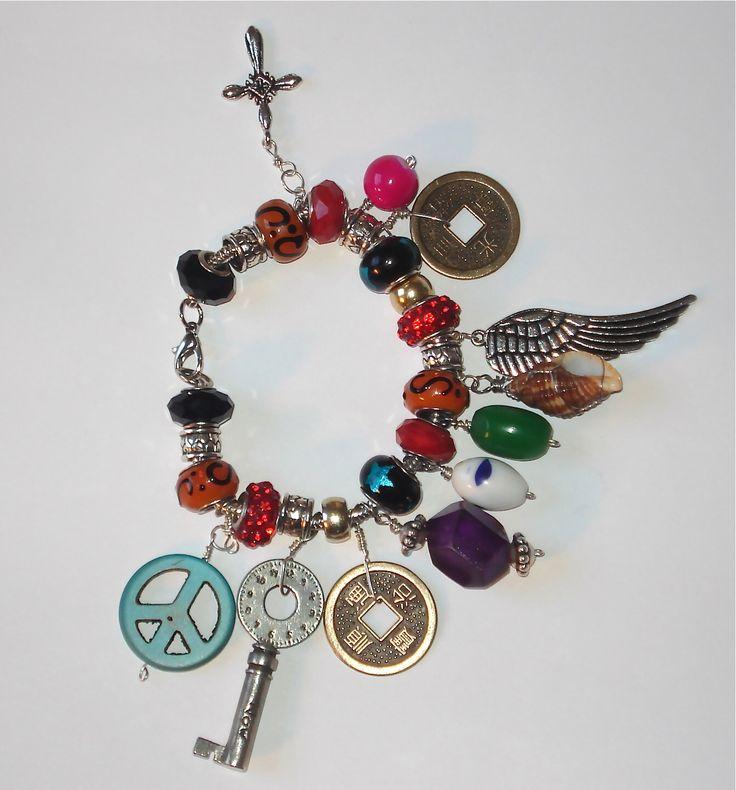 Colorfully Rich Charm Bracelet.