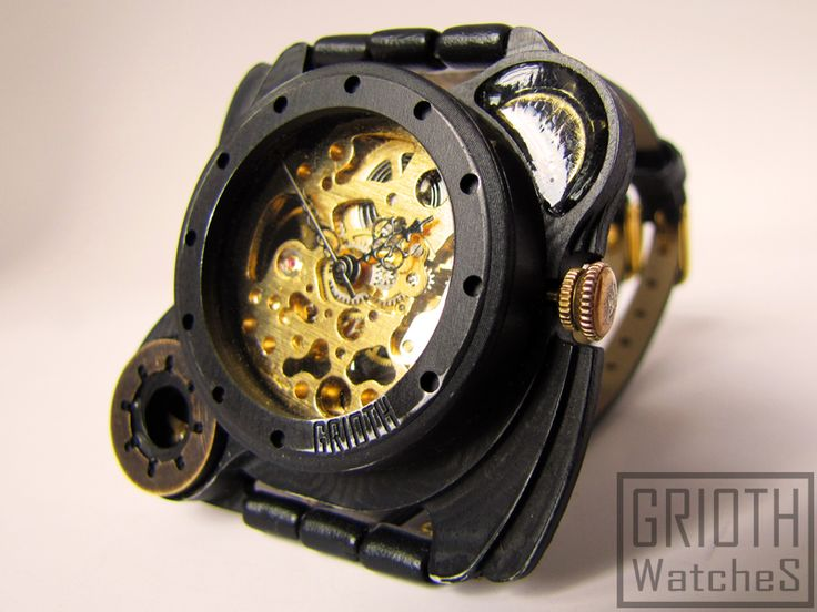 Poison I-VY steampunk gothic watch by GRIOTH