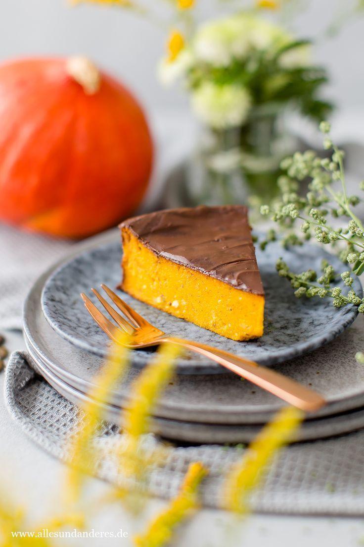 Saftiger Kurbiskuchen Mit Schokolade Kurbiskuchen Kurbiskuchen Rezepte Und Kurbis Dessert
