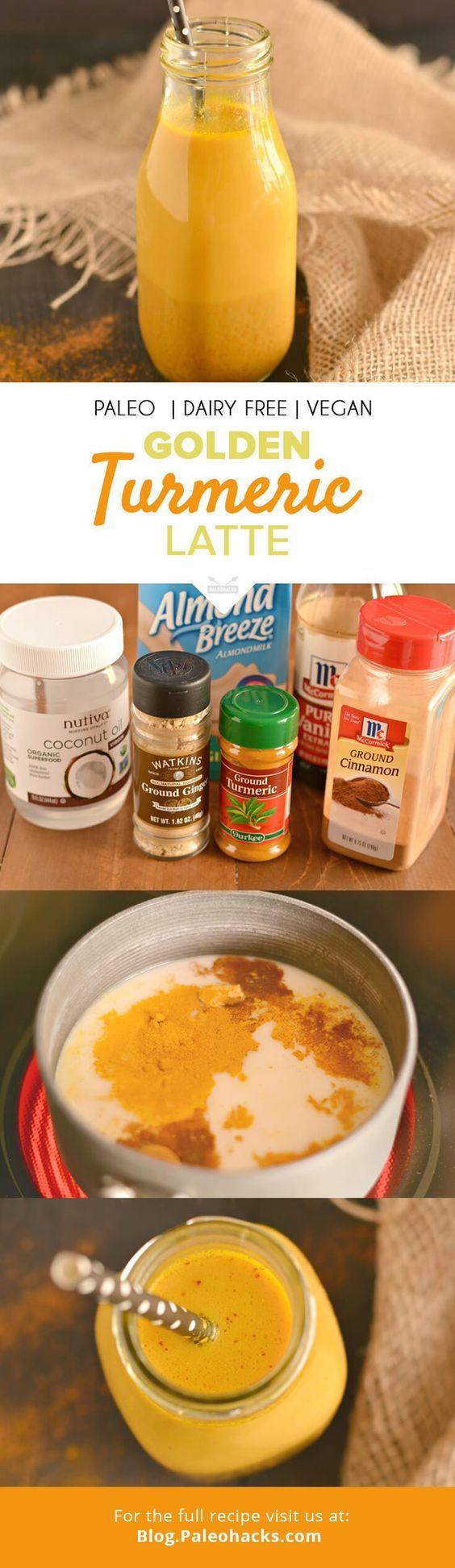 Golden Turmeric Latte  #justeatrealfood #paleohacks