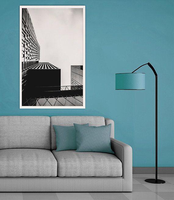 Schwarz & Weiß Fotografie Hochhäuser Frankfurt am Main (Skyscrapers) von Tim Münnig auf Etsy - Black & White Photography