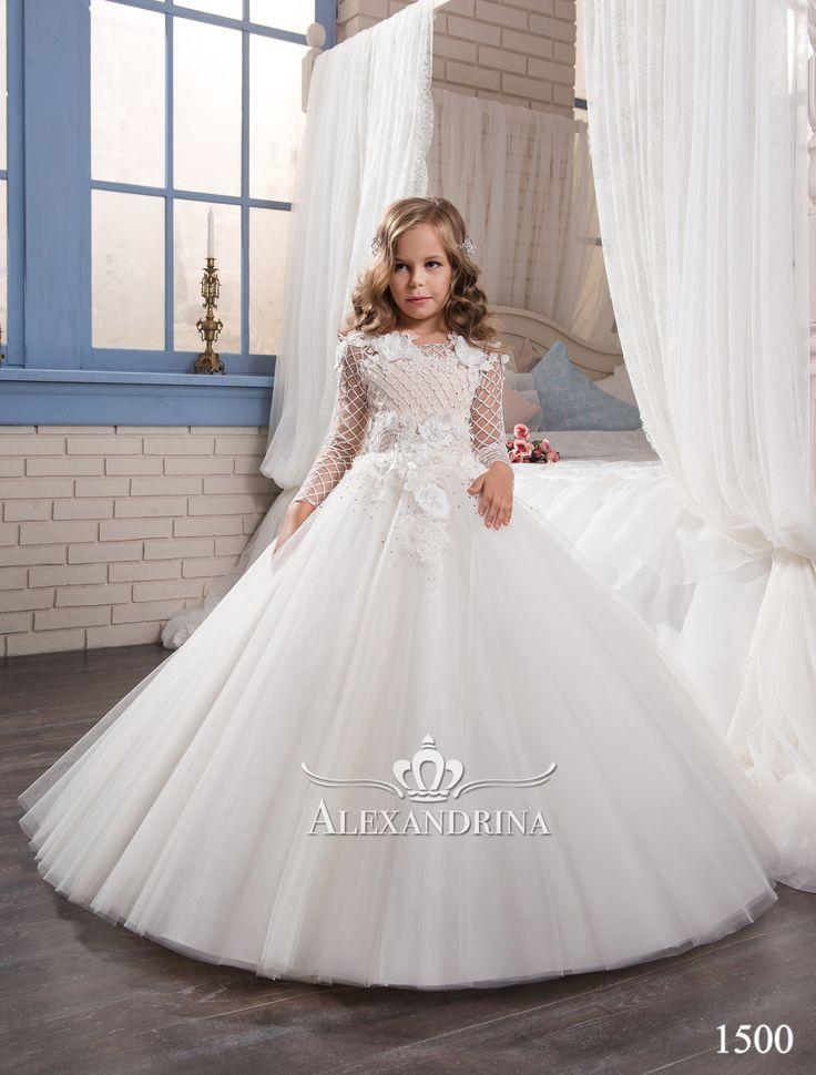 1500 | <b>First communion dress</b> | Пышные платья для девочек ...