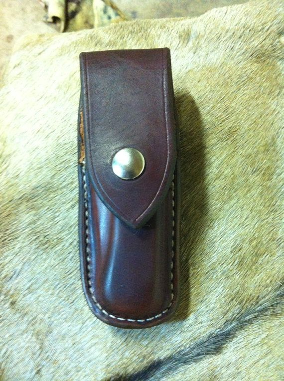 Closed top leather sheath for the Buck knife by Nayscustomleather
