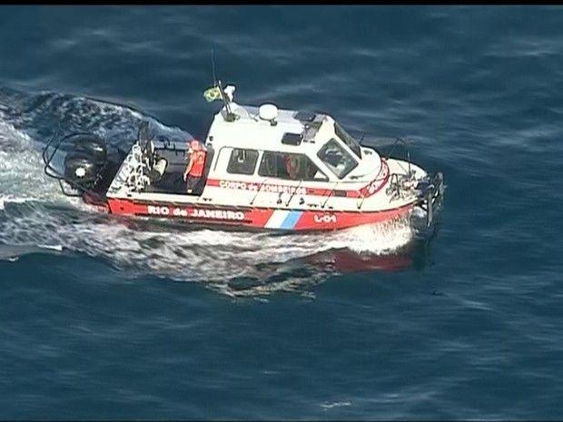 Corpo foi encontrado no mar de São Conrado, na Zona Sul do Rio (Foto: Reprodução/ TV Globo)