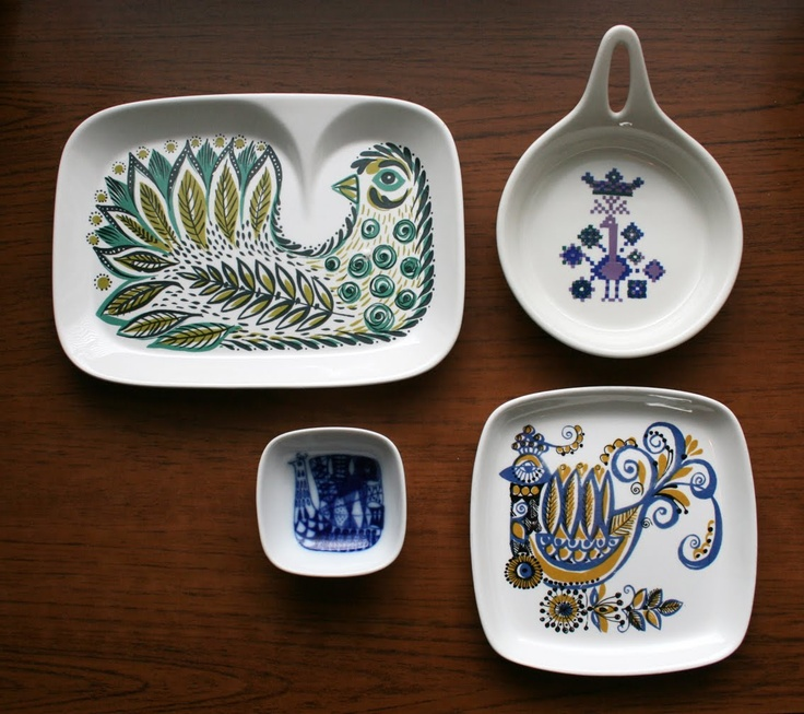 Dinnerware from the 60's and 70's.