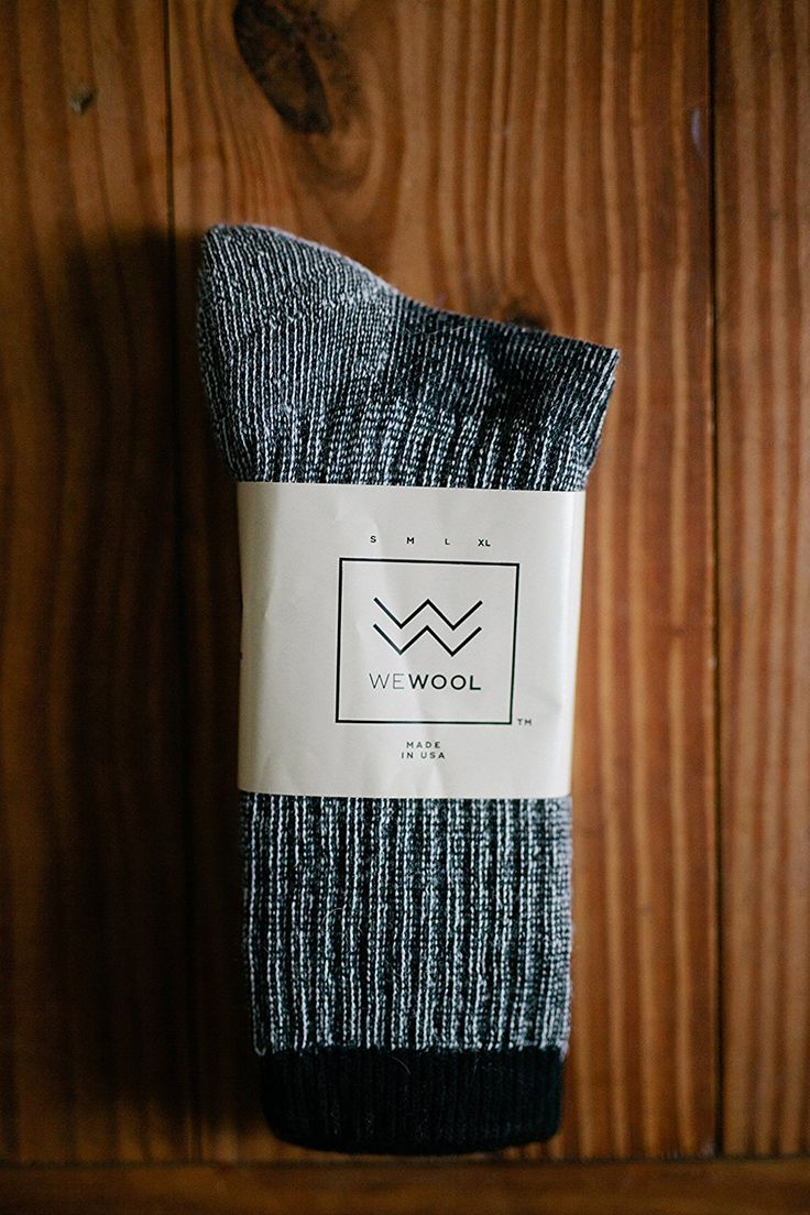 Our Mid-Weight Merino Wool Sock! Buy a pair, we give a pair to World Vision. Visit wewool.org today!