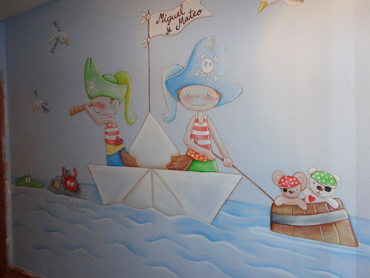 25 best ideas about mural infantil on pinterest for Mural habitacion juvenil