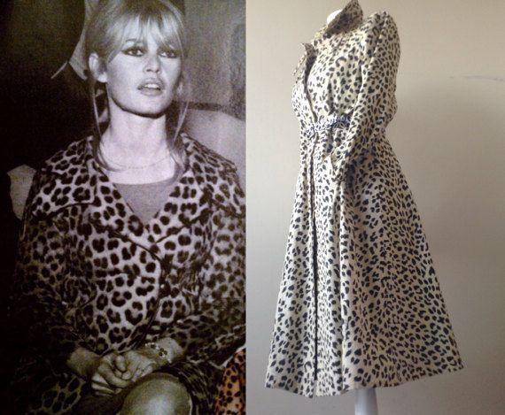 Leopard coat 60s / 70s  original  Vintage  by VintageVanillaShop