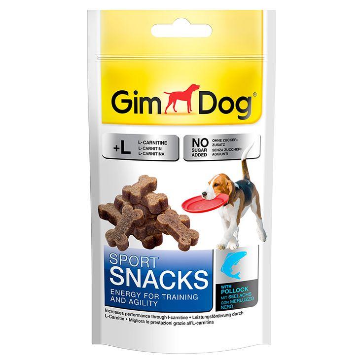 Дрессировочные лакомства для собак Gimborn Gimdog «Спортснекс» с лососем, 60 г