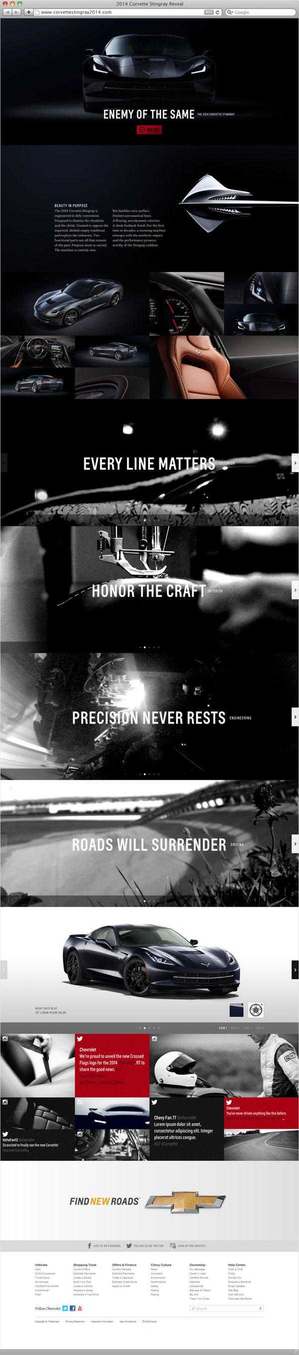 2014 Corvette Stingray Reveal by Ryan Ganss | #webdesign #it #web #design #layout #userinterface