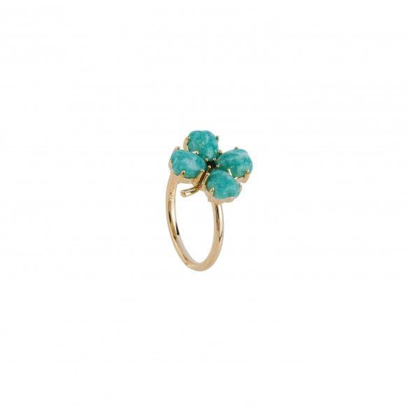 Four-leaf-clover ring