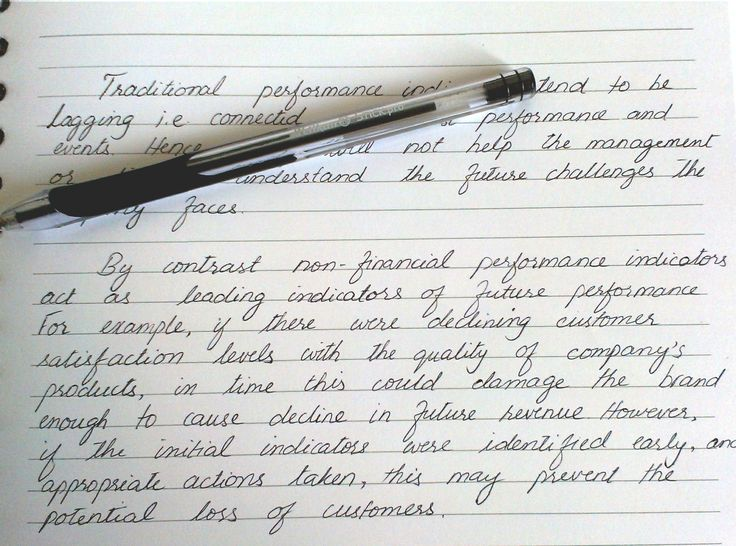 Beautiful Handwriting On A Financial Report Lettering