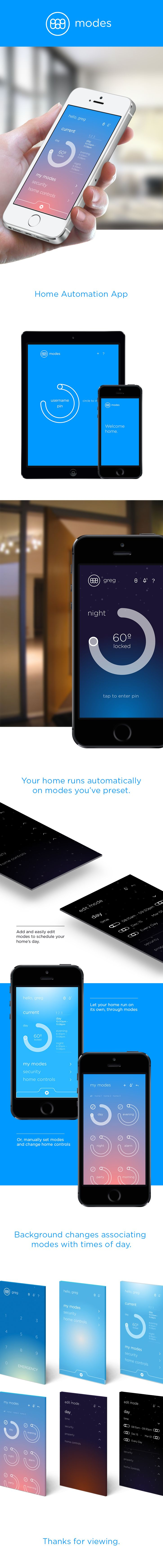 This is a home automation app designed to run your home without you having to worry about setting it daily. Its designed to save you money on energy bills, keep your home secure, and help your home transition through the day efficiently. This is a concept…
