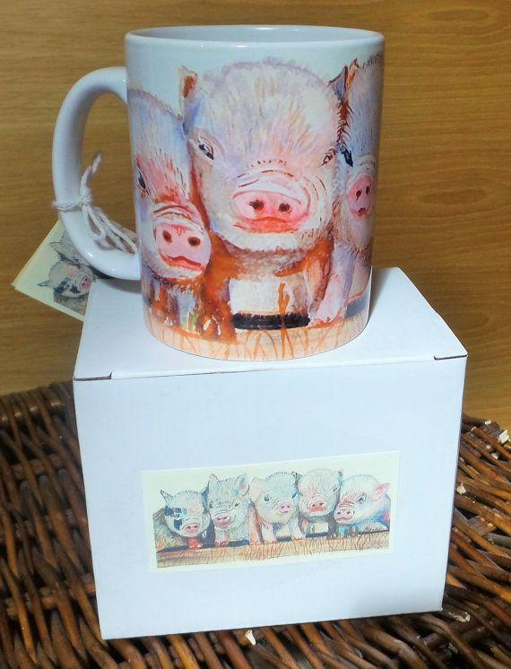 Micro Piglets 'Morena Artina Design' Mug pig hog by morenaartina