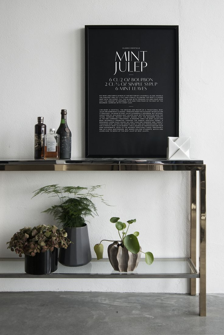 Min Julep typographic cocktail poster, available from TypeO.se