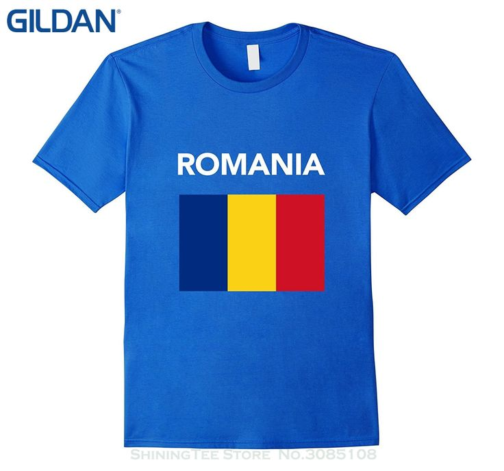 GILDAN O Neck T-shirts Male Low Price Steampunk Romania Flag T-shirt Romanian Flag Tee Shirt