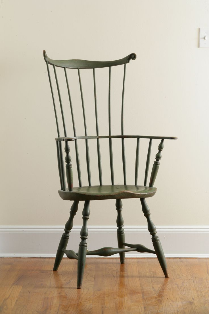 Comb Back Windsor | Images Of Green Painted Comb Back Windsor Arm Chair  Keno Auctions .