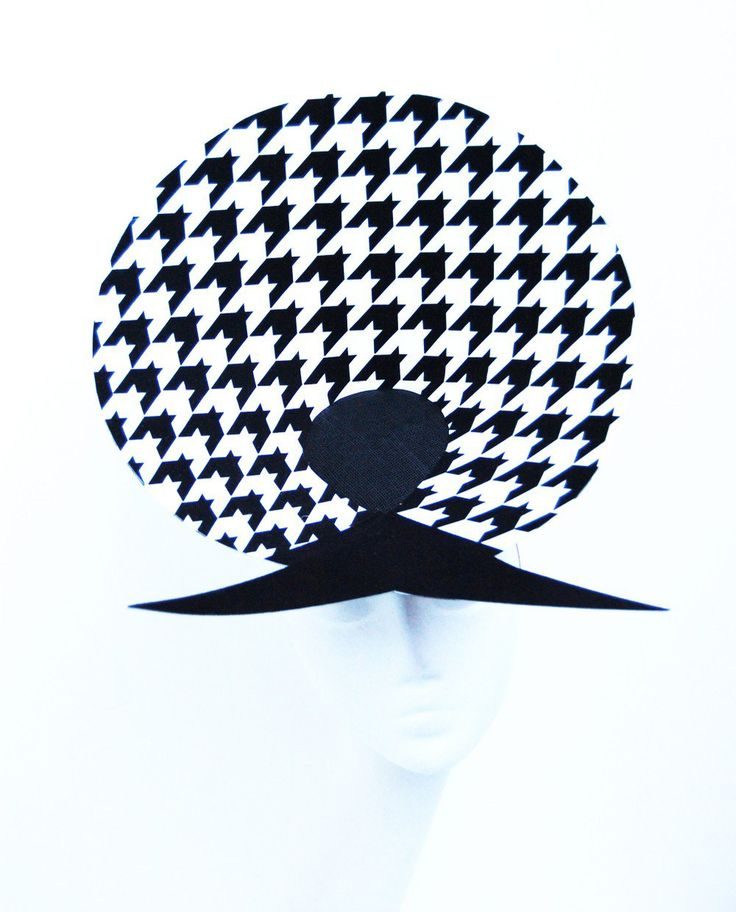 Houndstooth via Martha Lynn Millinery. Click on the image to see more!