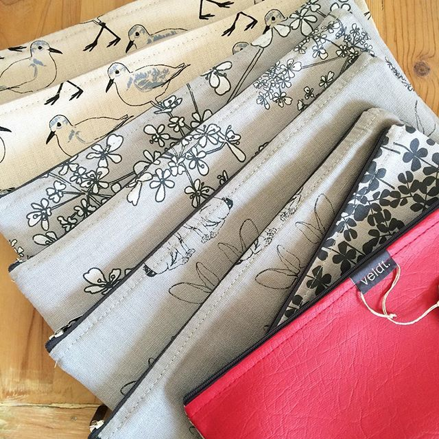 SnapWidget | New in store! Make up bags, pencil bags and change purses by Veldt #therubyorchard