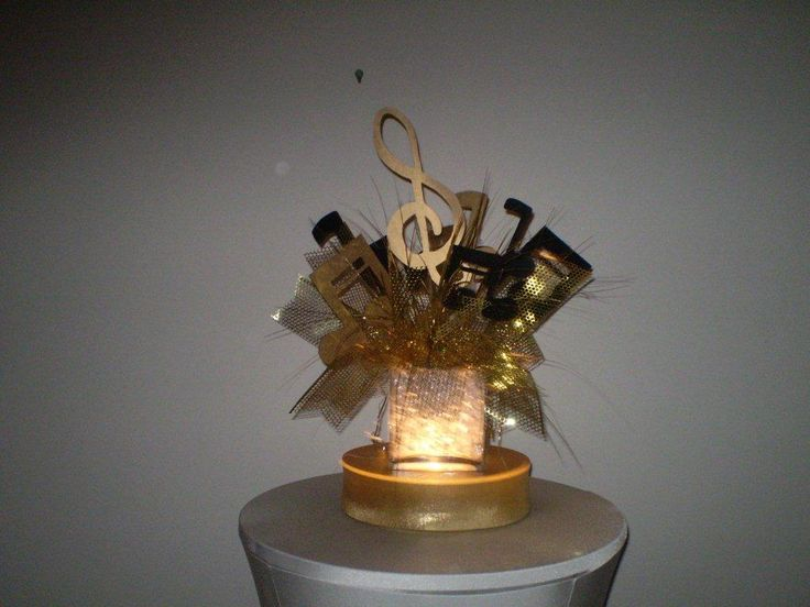 Lighted gold musical centerpiece possible centerpieces for Lighted centerpieces