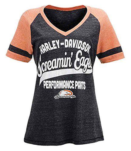 HarleyDavidson Screamin Eagle Shimmer Tailsweep Raglan Tee HARLLT0193 XL >>> Click on the image for additional details.