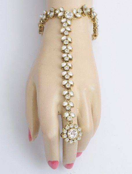 Indian jewelry - Bracelet with Ring Design