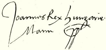 John Zápolya's signature