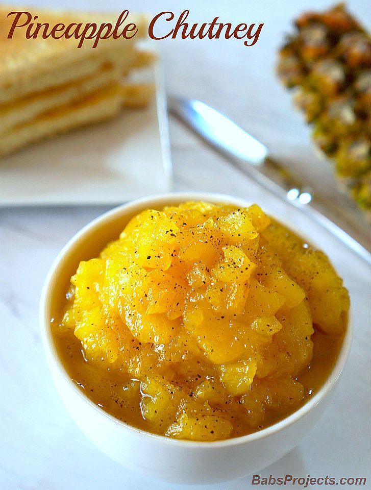 Easy 3 Ingredient Pineapple Chutney Indianrecipe Chutneyrecipe Pineapplerecipe Pineapplepreserve Via Babspr Chutney Chutney Recipes Indian Food Recipes