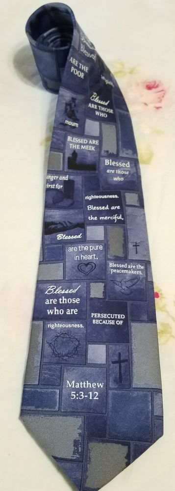 Eagles Wings Matthew 5:3-12 CHRISTIAN RELIGIOUS Church 100% SILK Neck Tie Blue | Clothing, Shoes & Accessories, Men's Accessories, Ties | eBay!