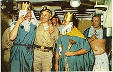 Davy Jones' Locker - Wikipedia, the free encyclopedia    I went through the crossing ceremony in 1951 aboard the S.S. Xachordia.