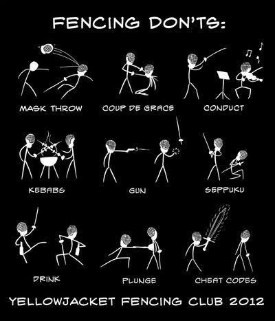 Fencing don'ts