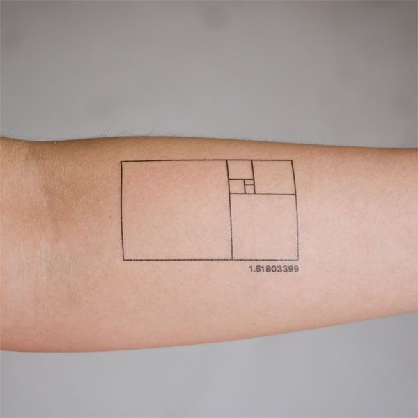 Golden Ratio temporary tattoo. Now I know what I'm getting the math teacher for Christmas.