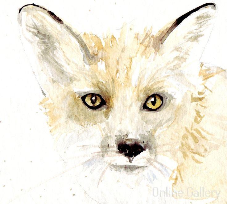 ilustratie-vulpe-acuarela