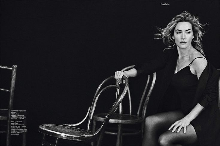 Kate Winslet Poses in Stripped Down Looks for L'Express Styles
