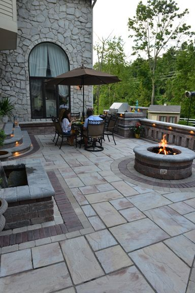 Rivenstone with Copthorne Paver Patio by Unilock at Benson Stone Co. in Rockford, IL