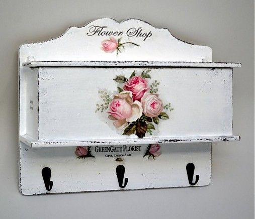 Vešiak roses schabby chic / Pupavkashop - SAShE.sk - Handmade Dekorácie