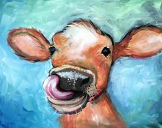 Image result for cow painting easy