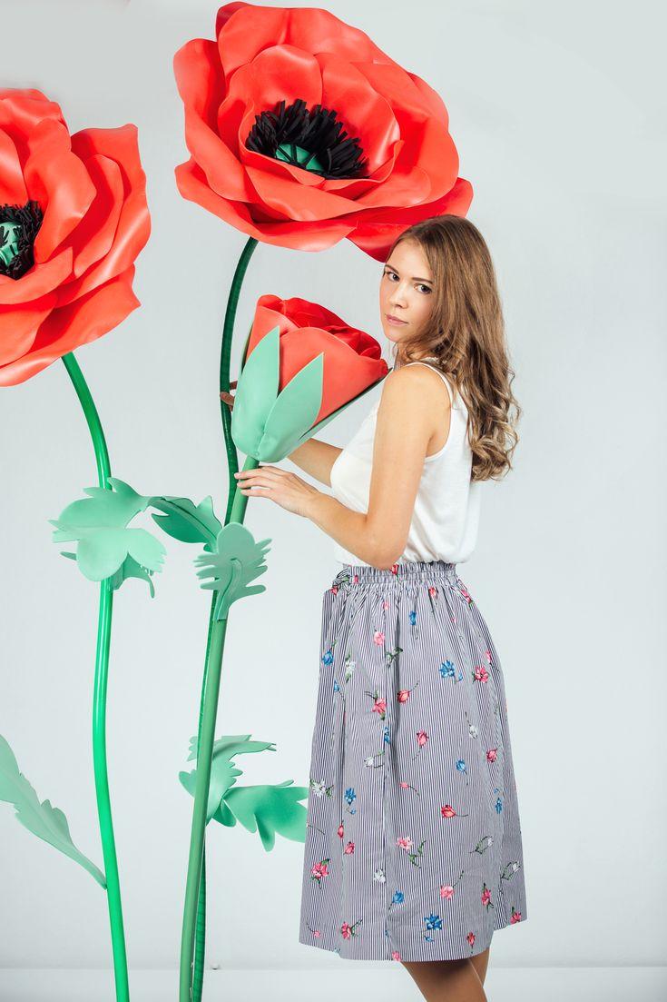 Как сделать большие цветы для фотосессии