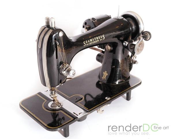 Cool old vintage sewing machine
