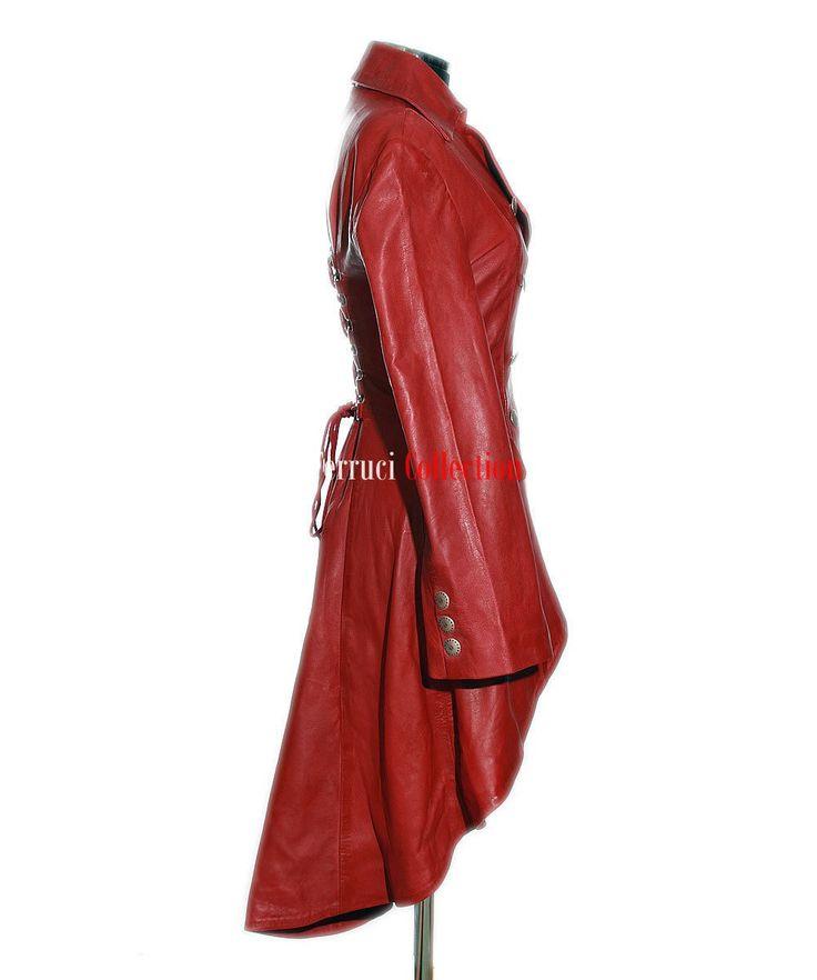 Valentina Red Ladies Military Corset Style Designer Real Soft ...